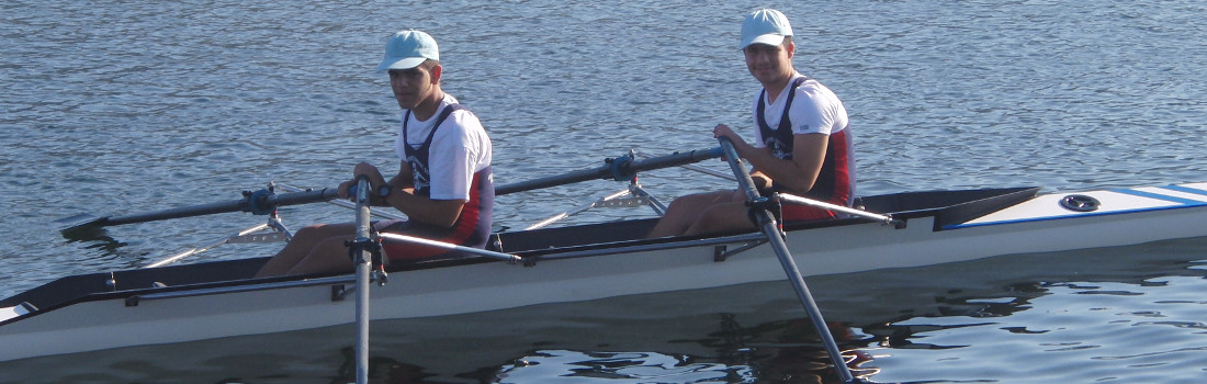 Marios & Andreas double skiff with good placings in the final of the  National Development championships .